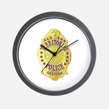 Alaska Territorial Police Wall Clock