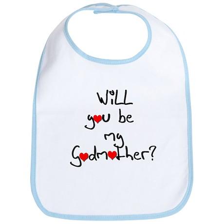 Be my Godmother? Baby Bib