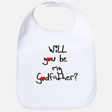 Be my Godfather? Baby Bib