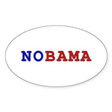 """""""Teletype"""" NOBAMA Oval Decal"""