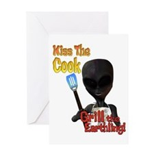 Kiss the Cook Grill the Earth Greeting Card