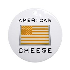 American cheese flag Ornament (Round)