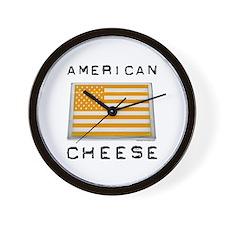 American cheese flag Wall Clock