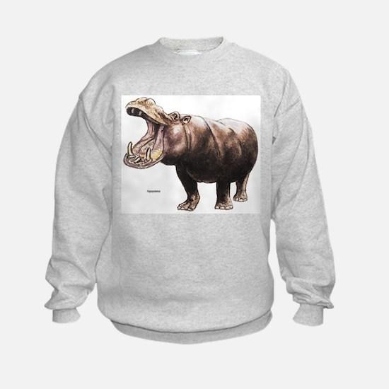 Hippo Hippopotamus (Front) Sweatshirt