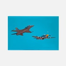 F16 Fighter Rectangle Magnet