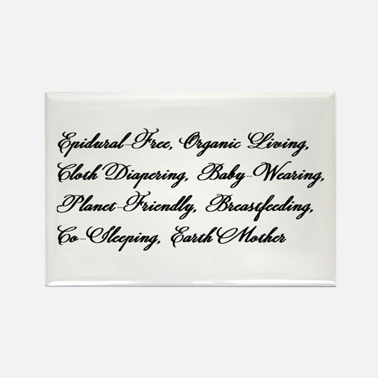Earth Mother's Manifesto Rectangle Magnet
