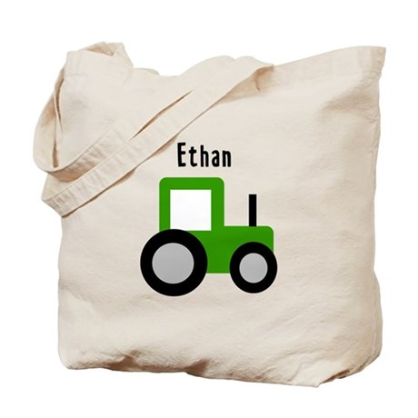 Ethan - Green Tractor Tote Bag