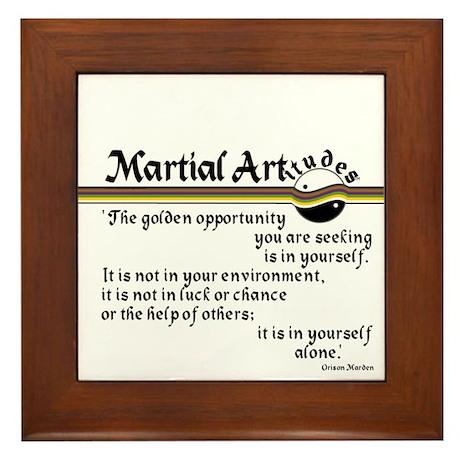 Marden Martial Artitude Framed Tile
