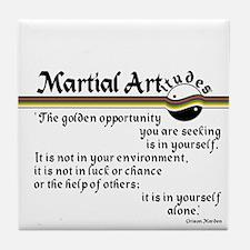 Marden Martial Artitude Tile Coaster