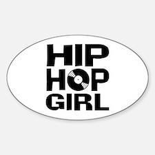 Hip Hop Girl Oval Decal