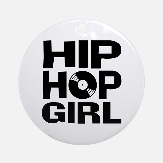 Hip Hop Girl Ornament (Round)