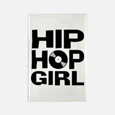 Hip Hop Girl Rectangle Magnet