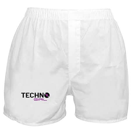 Techno Girl Boxer Shorts