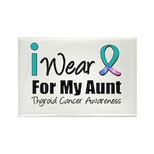 Thyroid Cancer (Aunt) Rectangle Magnet