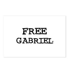 Free Gabriel Postcards (Package of 8)