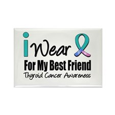 Thyroid Cancer (BF) Rectangle Magnet