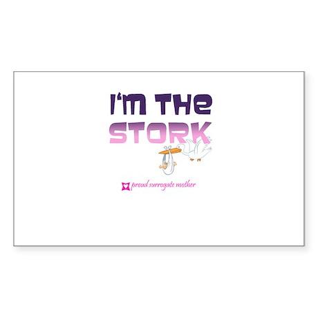 I'm the Stork Rectangle Sticker