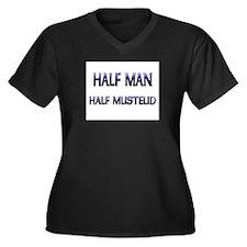 Half Man Half Mustelid Women's Plus Size V-Neck Da
