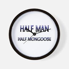 Half Man Half Mongoose Wall Clock