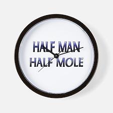 Half Man Half Mole Wall Clock