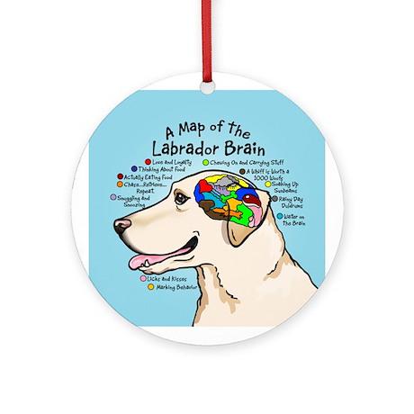 Yellow Lab Brain Ornament (Round)