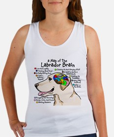 Yellow Lab Brain Women's Tank Top