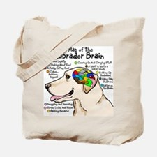 Yellow Lab Brain Tote Bag