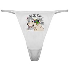 Yellow Lab Brain Classic Thong