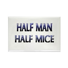 Half Man Half Mice Rectangle Magnet