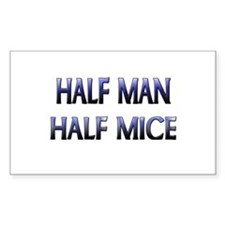 Half Man Half Mice Rectangle Decal
