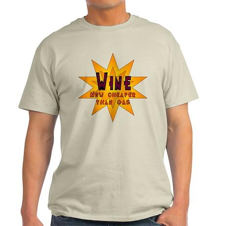 Wine Now Cheaper Than Gas Light T-Shirt