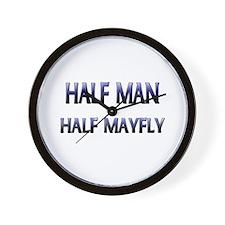 Half Man Half Mayfly Wall Clock