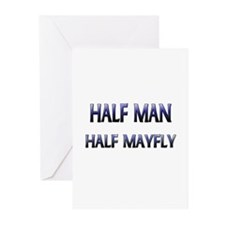 Half Man Half Mayfly Greeting Cards (Pk of 10)