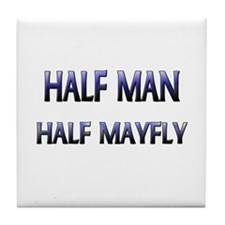 Half Man Half Mayfly Tile Coaster