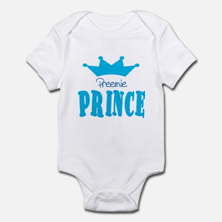 Preemie Prince Baby Toddler Infant Bodysuit