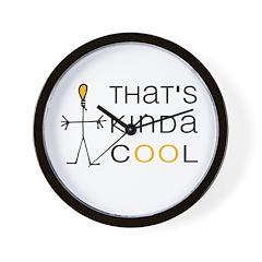 That's Kinda Cool Logo Wall Clock
