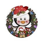 Christmas Penguin Holiday Wreath 3.5