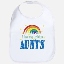 I Love My Lesbian Aunts Baby Infant Toddler Bib