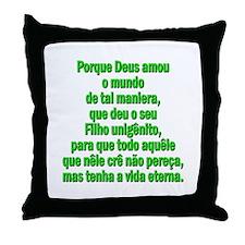 John 3:16 Portuguese Throw Pillow