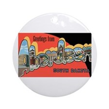 Aberdeen South Dakota Ornament (Round)