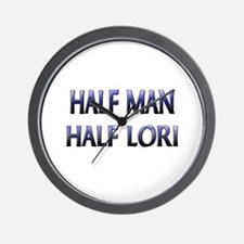 Half Man Half Lori Wall Clock