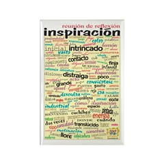 Spanish Brainstorming Rectangle Magnet (100 pack)