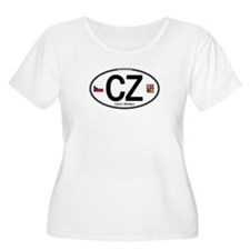 Czech Republic Euro Oval T-Shirt