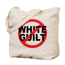 Anti Obama - No White Guilt Tote Bag