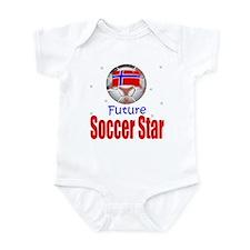 Future Soccer Star Norway Baby Infant Bodysuit