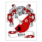 Elles Family Crest Small Poster