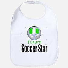 Future Soccer Star Nigeria Baby Infant Toddler Bib