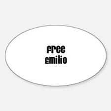 Free Emilio Oval Decal