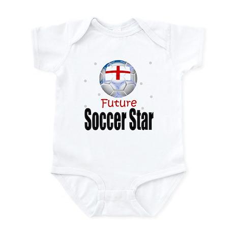 Future Soccer Star England Baby Infant Bodysuit