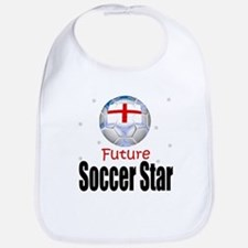 Future Soccer Star England Baby Infant Toddler Bib